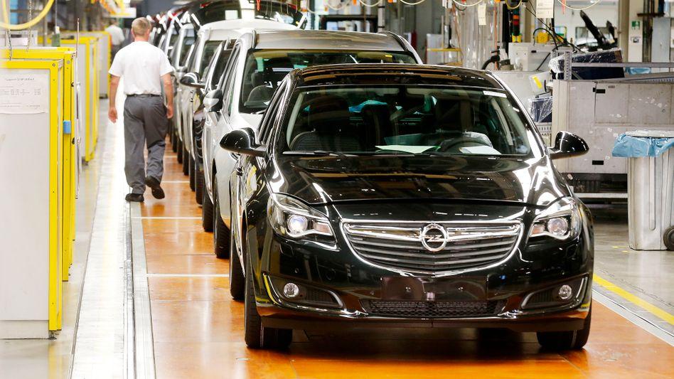 Opel-Produktion in Rüsselsheim (Bild Archiv)