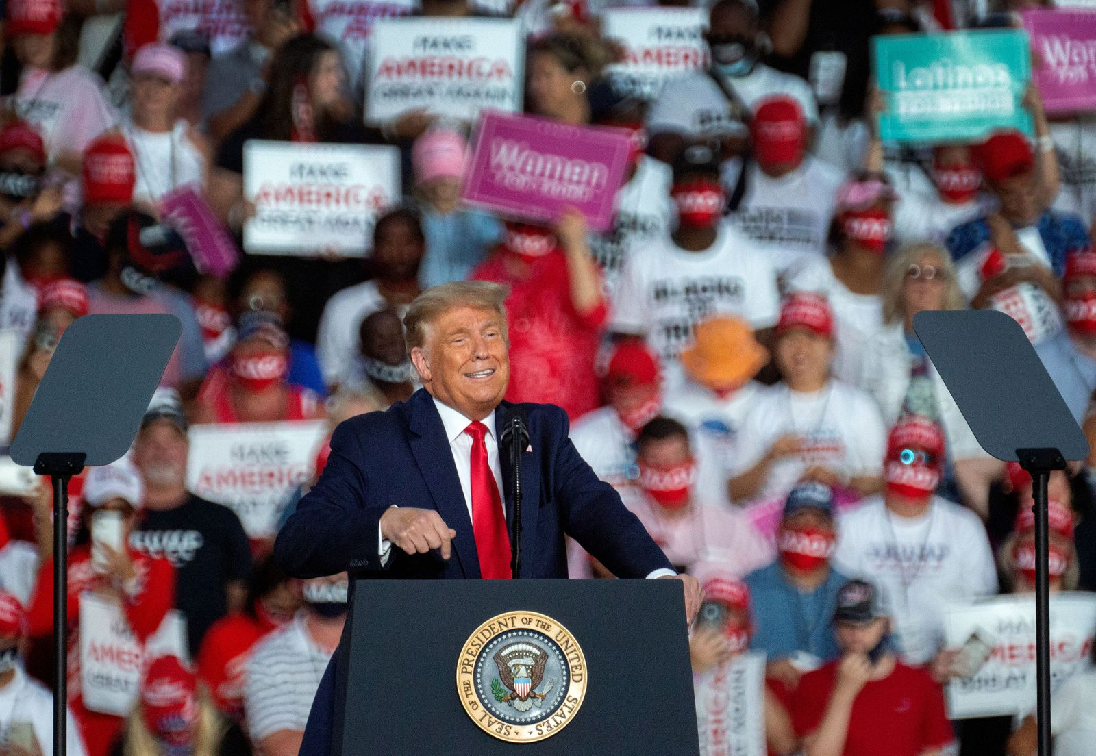 US President Trump's campaign event in Florida, Sanford, USA - 12 Oct 2020