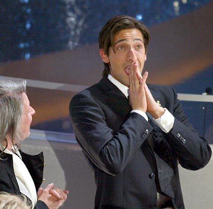 Überraschender Sieger: Adrien Brody gewann den Oscar als bester Hauptdarsteller
