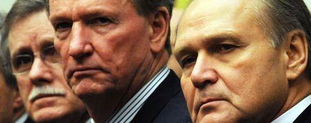 Zähes Ringen: Ron Gettelfinger (Chef der Autogewerkschaft UAW), General-Motors-Chef Richard und Chrysler-Chef Robert Nardelli (von links).