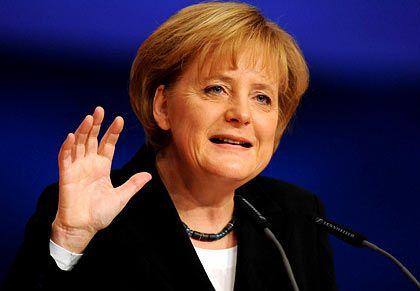 Keine sofortige Steuersenkung: Bundeskanzlerin Merkel schließt weitere Konjunkturhilfen aber nicht aus