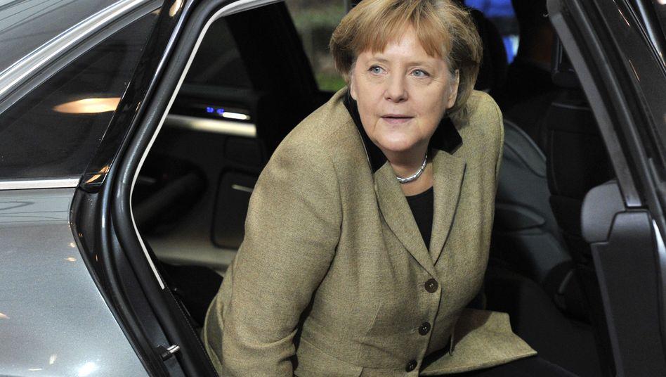 Kanzlerin Angela Merkel bei der Ankunft in Brüssel: Griechenland ist schwer beleidigt