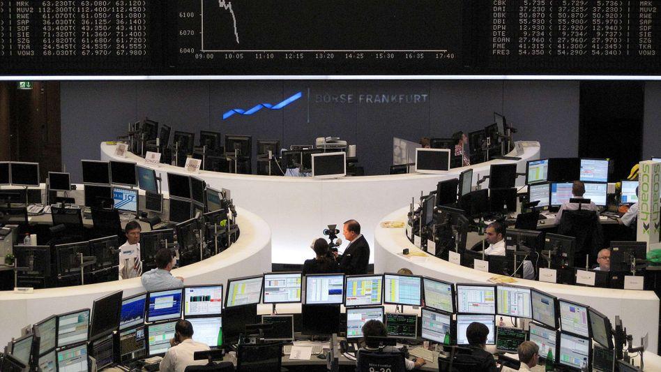 Börse in Frankfurt: Unterbrechung der Kursrally