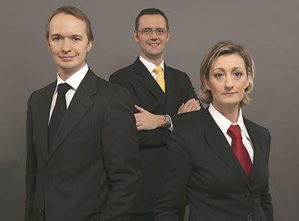 Perfekt organisiert: Sage-Manager Oliver Henrich; LogicaCMG-Geschäftsleiter Rudolf Kuhn; Manuela Landwehr, Geschäftsführerin Strategie bei McCann Erickson