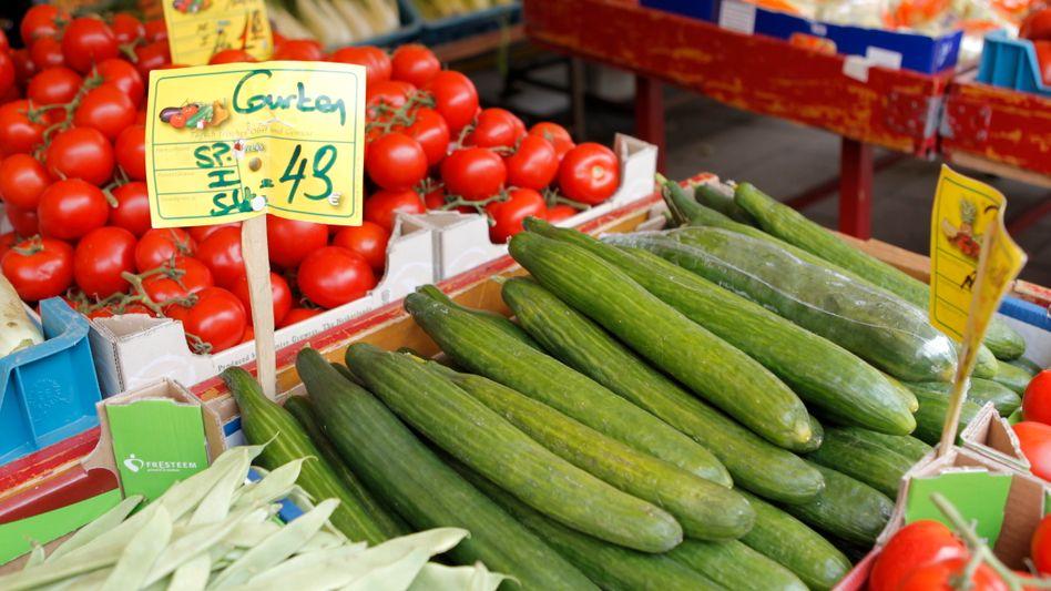 Ladenhüter: Bei Gurken, Tomaten und Salat halten sich die Kunden zurück