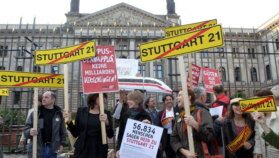 Lauter Protest: Der Bau des neuen Stuttgarter Bahnhofs stößt auf Widerstand