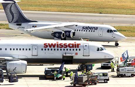 Sabena und Swissair - teilen sie bald dasselbe Schicksal?
