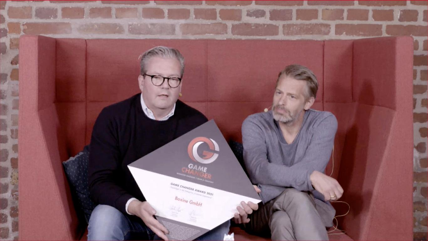 Game Changer 2021 / Marcus Stahl (links), Patric Faßbender / Boxine
