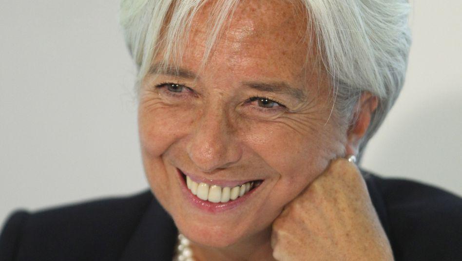 IWF-Chefin Christine Lagarde: Unterstützung für Draghi