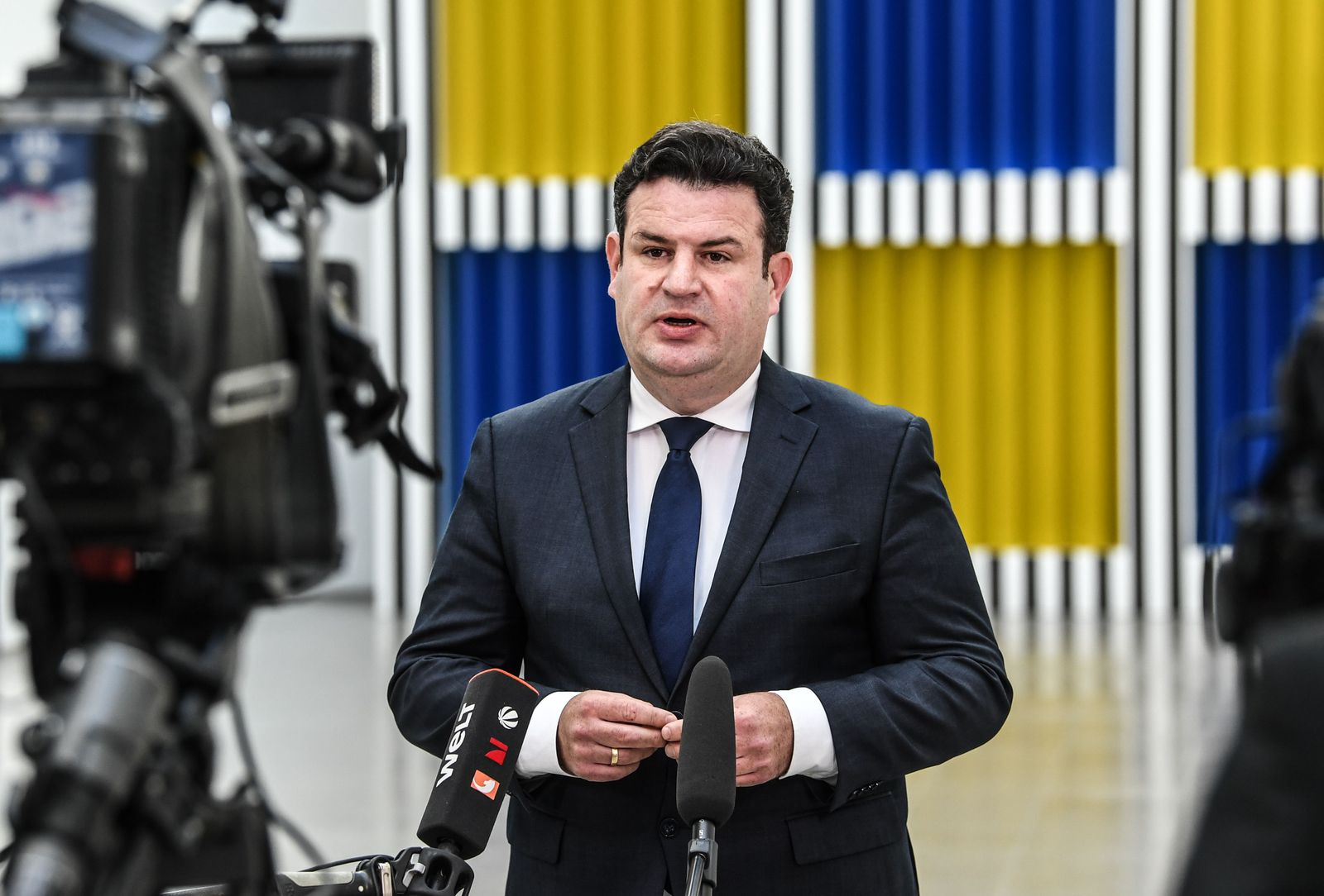 Press conference of German Minister of Labor and Social Affairs Hubertus Heil, Berlin, Germany - 30 Sep 2020