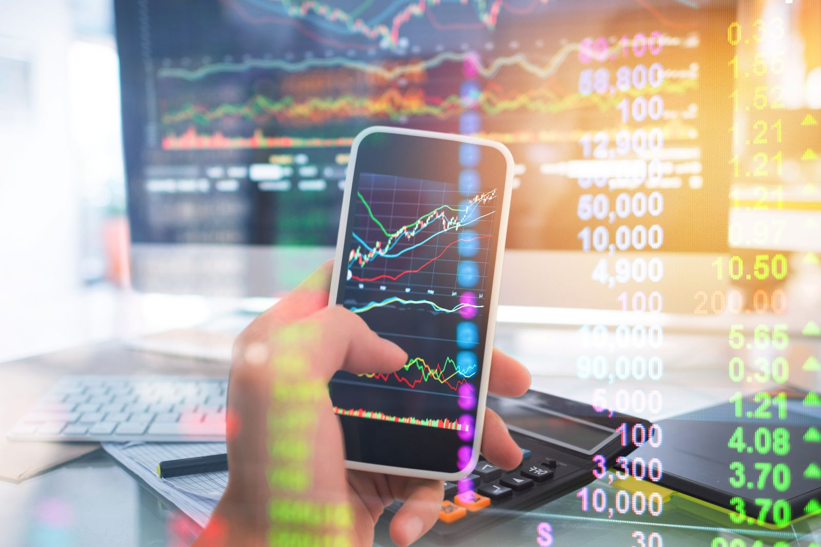 Investment theme stockmarket and finance business analysis stockmarket with digital tablet