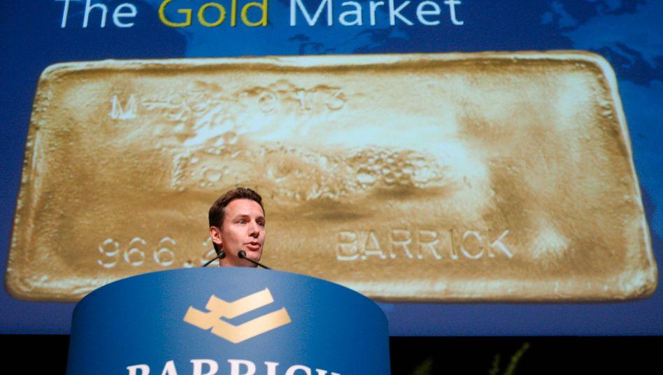 Goldene Goldaktien? Aaron Regent, Chef der Barrick Gold Corporation, dürfte davon überzeugt sein