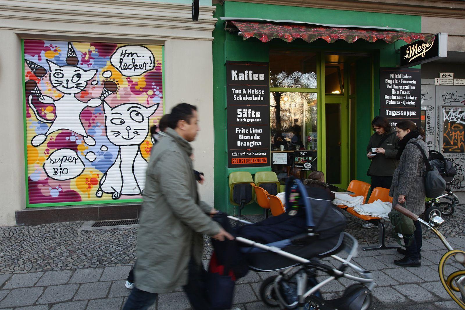 Gentrification / Prenzlauer Berg / Berlin / Babyboom / Kinderwagen / Mütter