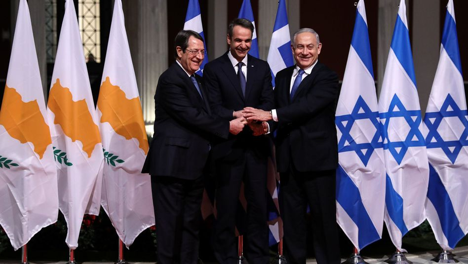"""Regierungschefs Anastasiades, Mitsotakis, Netanyahu: """"Brücke mit der Energie nach Europa gebracht wird"""""""