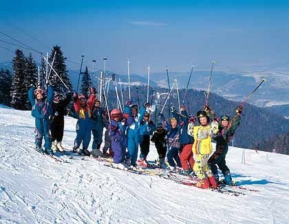Schutzbedürftig: Der Skitourismus konzentriert sich auf slowakischem Boden auf wenige Gebiete, da große Teile der Hohen Tatra unter Naturschutz stehen