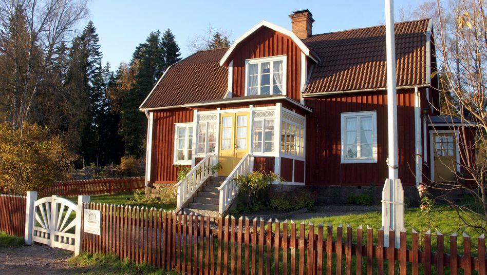 Blockhaus im schwedischen Dorf Gibberyd: