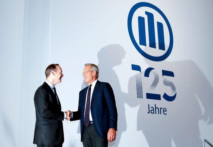 Handshake: In zwei Jahren dürfte Diekmann wohl die Spitze des Allianz-Aufsichtsrates übernehmen