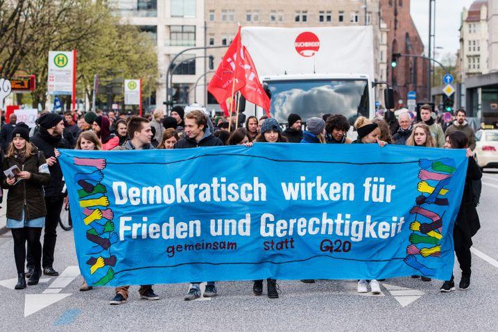 G20-Protest in Hamburg