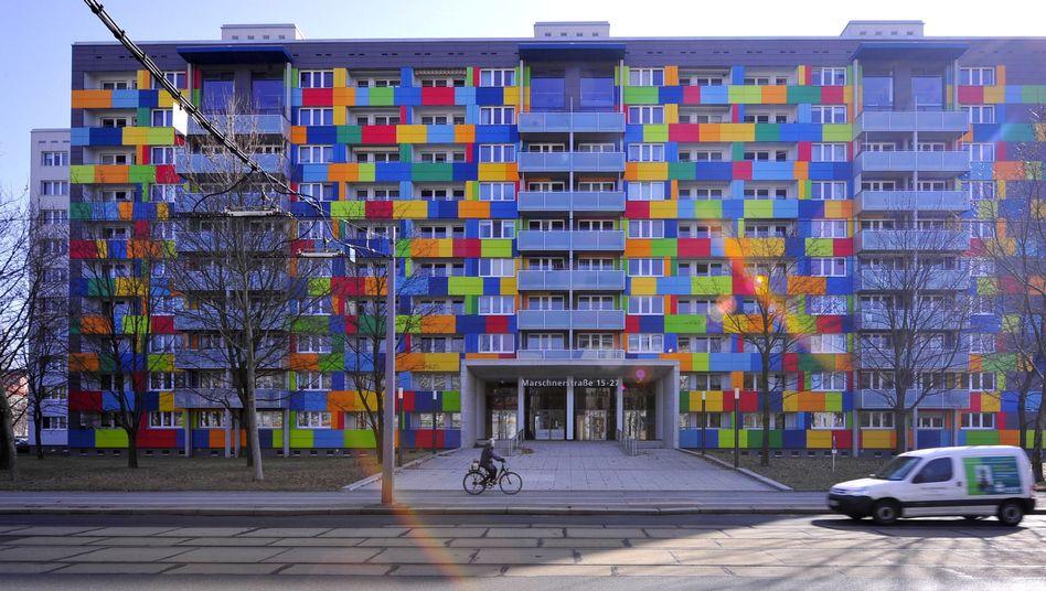 Immobilie der Gagfah in Dresden: Die Firma war vor Ausbruch der Finanz- und Wirtschaftskrise an den Investor Fortress verkauft worden - ein Deal von vielen während des Immobilienhypes Anfang dieses Jahrtausends