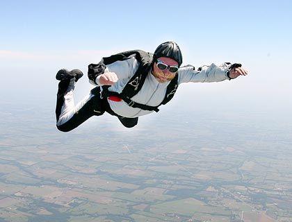 Fallschirmspringen: Harte Landung möglich, aber unwahrscheinlich