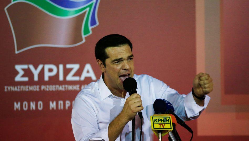 Alles auf Anfang: Binnen drei Tagen will Tsipras wieder eine Regierung mit den Unabhängigen Griechen bilden. Der deutliche Syriza-Sieg hilft dabei
