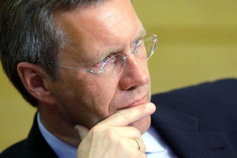 """Ministerpräsident Wulff: """"Zuerst sind die Eigentümer gefragt, Frau Schaeffler und ihr Sohn, dann die Banken"""""""