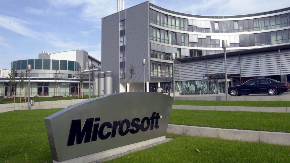 Deutschland-Firmenzentrale des US-Softwarekonzerns Microsoft in Unterschleißheim bei München: Telekom-Manager wird neuer Hausherr