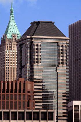 Gebeutelt: Zentrale der Deutschen Bank in New York