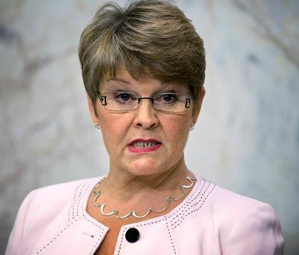 """""""Manchmal kann auch der Staat nicht helfen"""": Schwedens Ministerin für Wirtschaft, Maud Olofsson"""