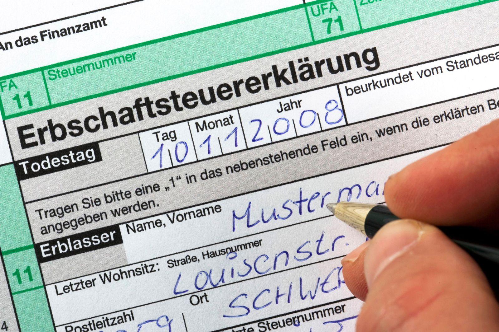 Erbschaftssteuer / Erbschaftssteuererklärung
