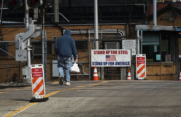 US-Steel-Fabrik in Pennsylvania
