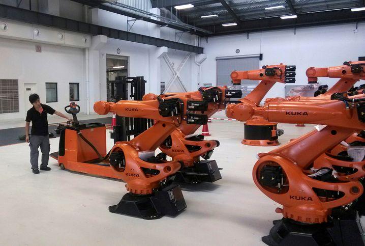 Begehrte Roboter: Der chinesische Haushaltsgerätebauer Midea interessiert sich für den Hersteller Kuka