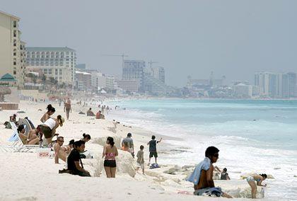 Strand von Cancun: Auch die Kosten für Sprachkurse im Ausland sind absetzbar - unter bestimmten Bedingungen