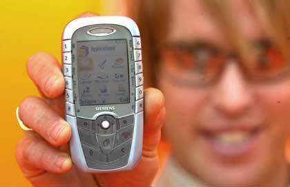 Siemens-Handy: Musik im Takt der Schritte