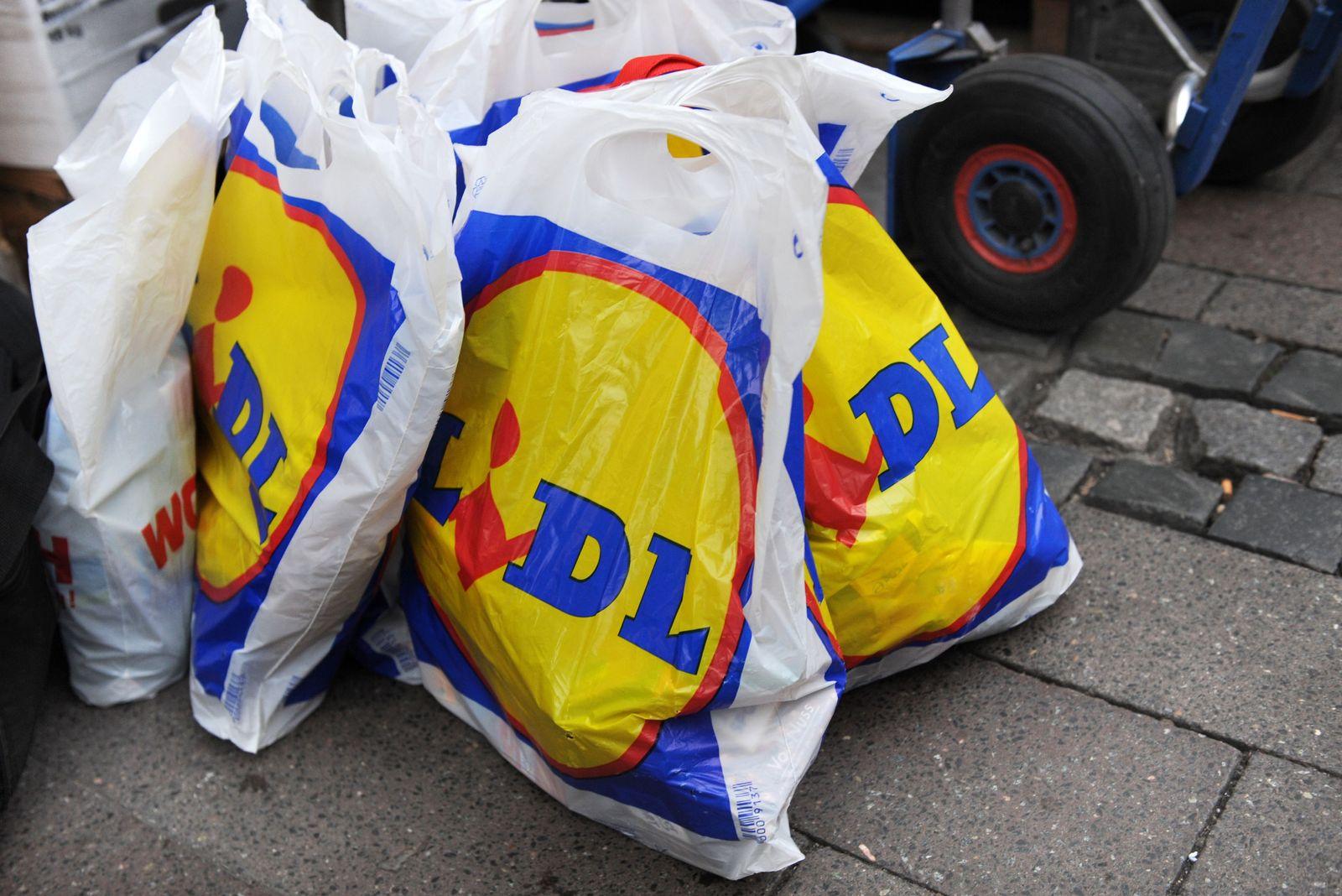 Lidl-Plastiktüte / Einkaufstüten