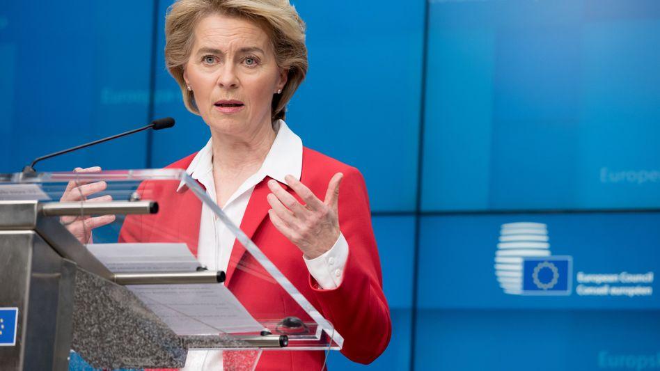 """EU-Kommissionspräsidentin Ursula von der Leyen (CDU): """"Ich hoffe, dass sie gegen Ende des Jahres einen Impfstoff entwickelt haben"""""""