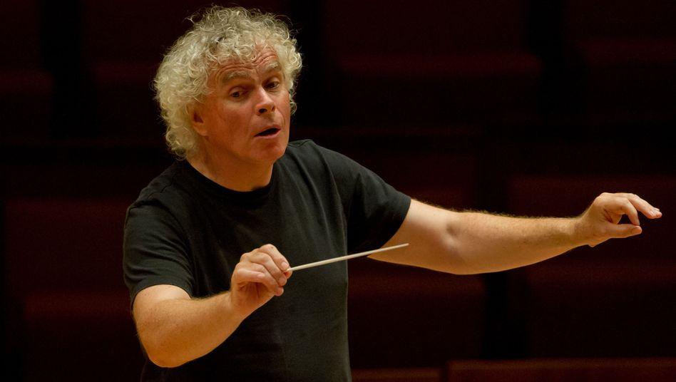 Dirigent in Aktion: In diesem Fall Sir Simon Rattle