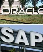 Erbitterte Konkurrenz:Oracle und SAP