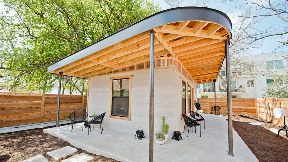 SMART HOME Wohnen wie gedruckt: Wände und Böden stammen aus einem Riesen3-D-Drucker, das Holz wird händisch verbaut