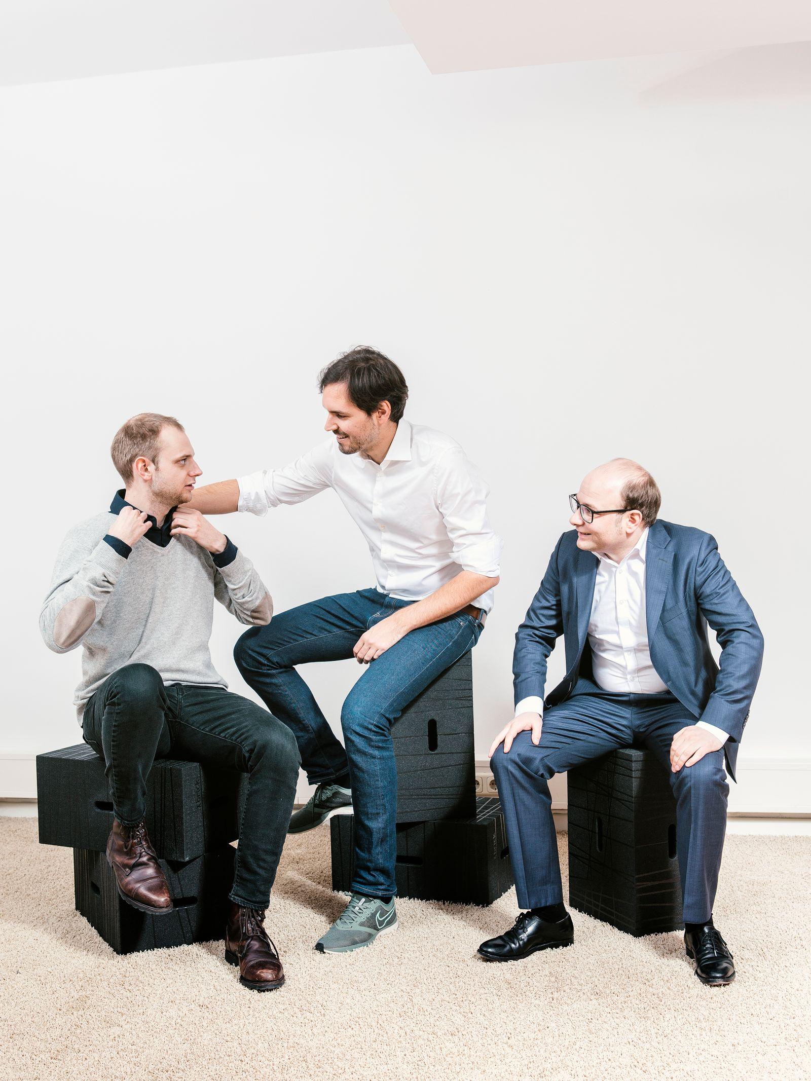 Martin Klenk, Bastian Nominacher und Alexander Rinke. Startup Celonis für Capital Magazin