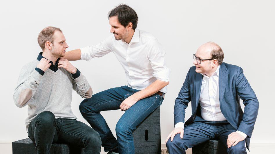 11 Milliarden Dollar Bewertung erreicht Celonis von Alexander Rinke, Martin Klenk und Bastian Nominacher (v. l.)