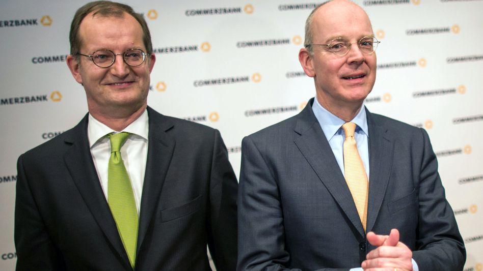 Der neue und der alte Commerzbank-Chef: Martin Zielke (l) und Martin Blessing auf einem Foto von Anfang 2015.
