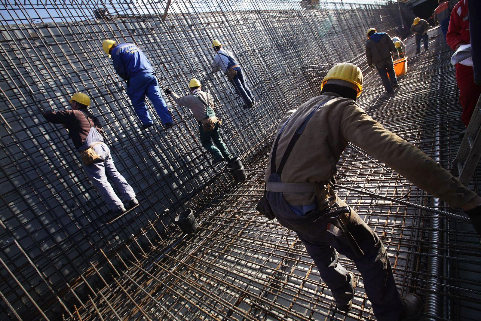 Deutschland / Konjunktur / Aufschwung / Wirtschaft / Fachkräfte / Baustelle / Bauarbeiter