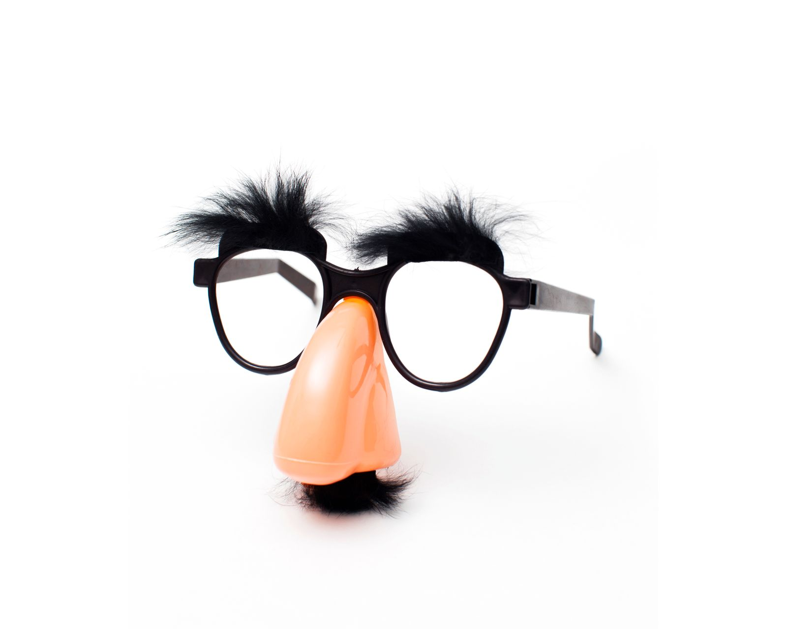 Groucho Marx novelty glasses on a white background