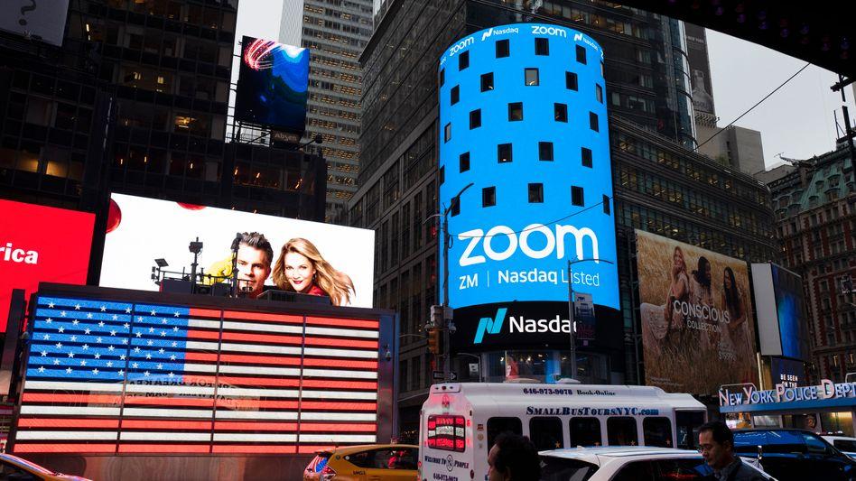 Rückzug vor dem Bildschirm: Der Videodienst Zoom war einer der Börsenstars des Krisenjahres 2020