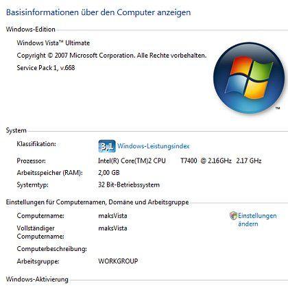 Windows Vista mit Service Pack 1: Auf manchen PCs lässt sich das Update nicht installieren