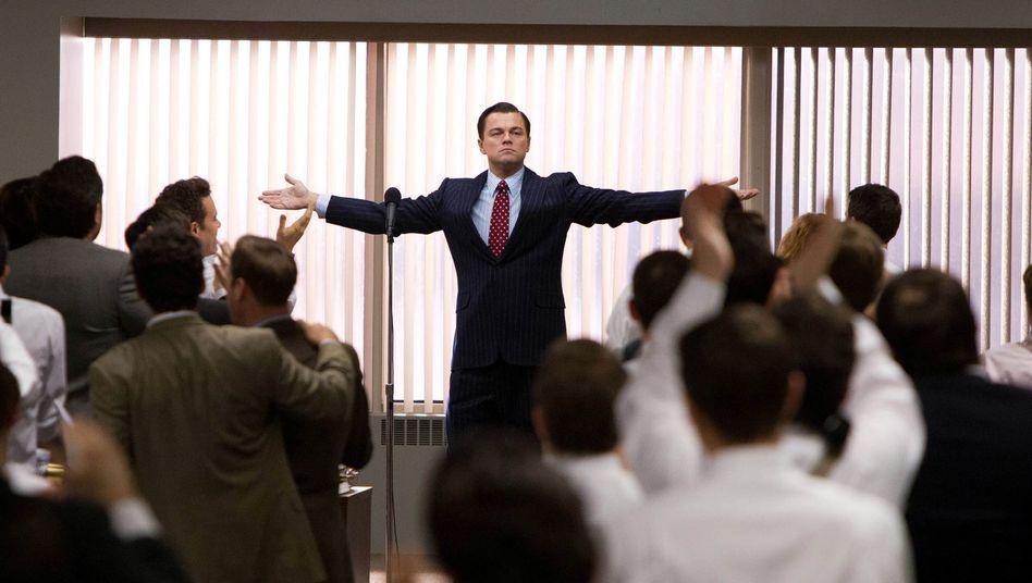 "Jordan Belfort, gespielt von Leonardo DiCaprio in ""The Wolf of Wall Street"""