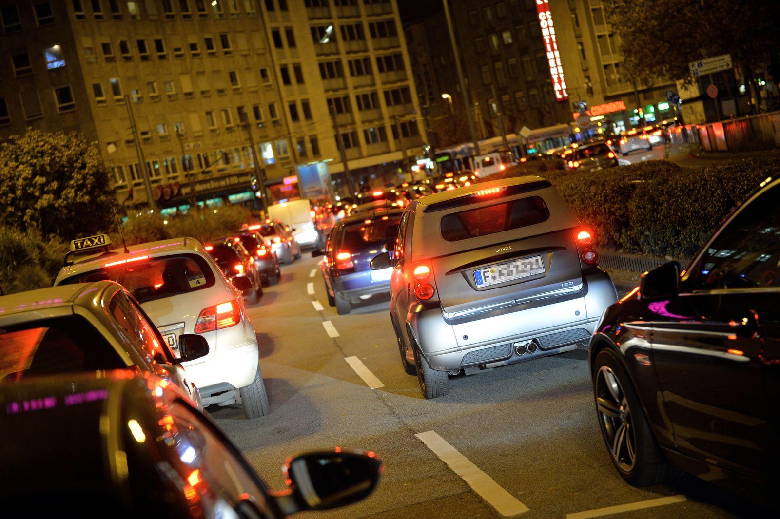 Frankfurt Stau Verkehr