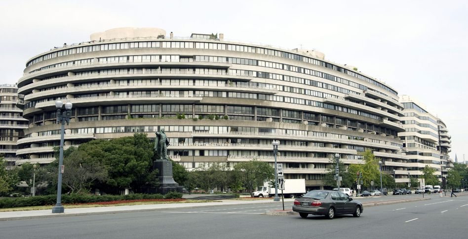 Historisches Gebäude: Der Watergate-Komplex in Washington
