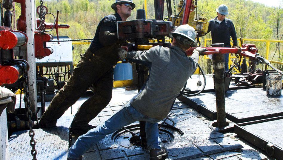 Arbeiter bei einer Erdgasbohrung von Chesapeake Energy in Pennsylvania